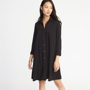 💜2/$30! 🆕 Old Navy Button Down Shirt Dress Black